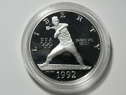 1992-s Proof Olympic Baseball Commemorative Silver Dollar - Proof