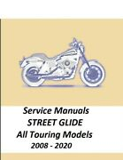 Harley Street Glide / All Touring 2008 - 2020 Service Manual 640-3113 Pages