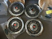 Nos Ford Mustang Pinto Fairmont 14 Wire Hubcap 1977 1978 1979 1980 1981