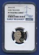 2016 S 5c Jefferson Nickel Ngc Pf70 Ultra Cameo Early Release Blue Label