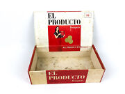 Vintage El Producto Cigar Box Cardboard Claro Bouquets Red And White 9x5x3