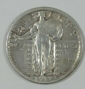 1917 Type-2 Standing Liberty Quarter Extra Fine Silver 25-cents