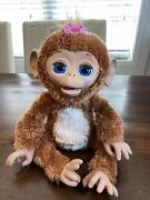 """Furreal Friends Cuddles My Giggly Chimp 18"""" Interactive Monkey 2012 Works Nice"""