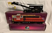 ✅mth Premier Norfolk Southern Crane And Tender Car 20-98389 20-98392 O Scale Ns