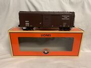 ✅lionel Norfolk And Western Round Roof Box Car 6-17737 O Scale Freight Ps-1 Nandw