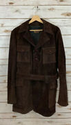 Vintage Falcon Mens Brown Suede M65 Field Coat Jacket Custom Tailored Rare