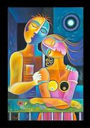 Cubism Oil Painting Modern Art Couple Cubist Lovers Marlina Vera Expressionist