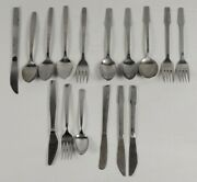 Vintage Lot Of Various Airline Stainless Flatware Lot Of 16