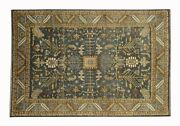 Slate Blue Green Antique Soltanabad Mahal Wool 10x14 Color New Rug-1314