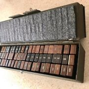 1944 Wwii Army Signal Corps Full Box Channel Frequency Crystals, 120 Total