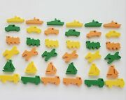 36 Incivia Plastic -sailboats Trains Boats Cars Trucks Airplanes Toy Pieces