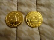 Rare Gold Islamic Coin -dinar Marked Purity 999.9 24k Weight 5 Grams Year 1406