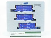 N Scale Kato 106-6119 Bran Pacer Maxi-iv Double Stack Car Set 6314