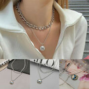 Gold Silver Geometric Butterfly Necklace Clavicle Thick Chain Women Jewelry Gift