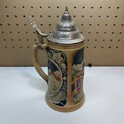 Vintage German Beer Stein With Lid. Free Shipping