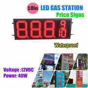 Rc Waterproof 12v 40w 10 Led Gas Station Electronic Fuel Price Sign 8888/9