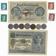 Rare Old Wwi Wwii Germany War Coin Note Ww2 German Collectible Collection Lot C1