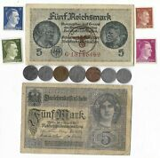 Rare Old Wwi Wwii Germany War Coin Note Ww2 German Collectible Collection Lot C2