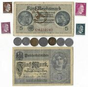 Rare Old Wwi Wwii Germany War Coin Note Ww2 German Collectible Collection Lot C7