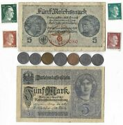 Rare Old Wwi Wwii Germany War Coin Note Stamp German Collectible Collection C10