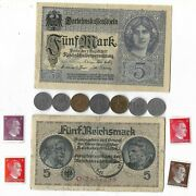 Rare Old Wwi Wwii Germany War Coin Note Stamp German Collectible Collection C11