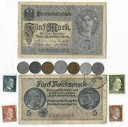 Rare Old Wwi Wwii Germany War Coin Note Stamp German Collectible Collection C16