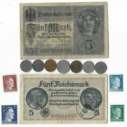 Rare Old Wwi Wwii Germany War Coin Note Stamp German Collectible Collection C17