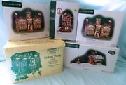 Lot Of 5 Department 56 Christmas Dicken's Village And North Pole House Pub Naval