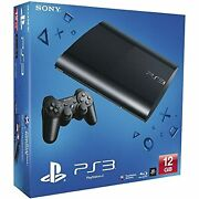 Sony Entertainment Playstation Console Ps3 12gb Super Slim Video Game Systems
