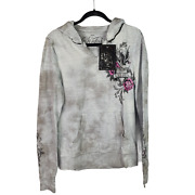 Sinful By Affliction Honey Babs Hoodie Sweatshirt Jacket 65 Nwt Large