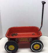 Vintage Circus Wagon Amf Metal Childs Toy Pull Cart