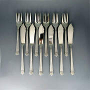 Fish Cutlery For 6 People In 900 Silver