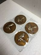 Lowriderhydraulicswire Wheel Knock Offzenith Candy Brown / Gold Chip 4pcs
