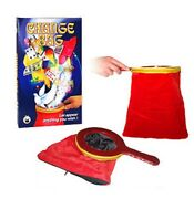 Change Bag Magic Trick - Pro Repeat Red Velvet With Zipper And Book - Us Seller
