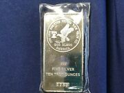 1976 Tri-state Refining And Investment 10 Ounce Silver Bar Sealed New Bu E8209