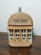 Rare Windy Meadows Pottery Collection 80's Vtg Jan Richardson Ook Fire House