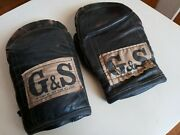 Vintage G And S New York Boxing Gloves Training Speed Bag Collectors Awesome
