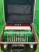 Used Mirage Red And Green Accordion With Case
