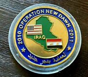 Rare 2010 2011 Operation New Dawn Iraq And University Of Wisconsin Challenge Coin