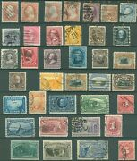Us Small Lot Of Used 19th Century Stamps On 2 Pages + 1 114 Cover Scv 1725