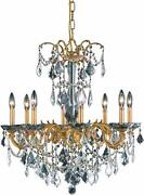 Crystal Chandelier French Gold Foyer Kitchen Island Dining Living Room 8 Light