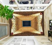 3d Yellow Hole Ske1117 Floor Wall Paper Wall Print Decal Wall Deco Bea