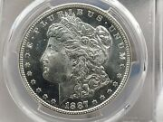 1887-s Morgan Silver Dollar Pcgs Ms65 Awesome Coin Low Population 446 Wow
