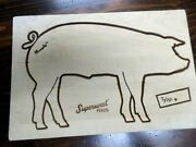 Vtg Supersweet Feeds Advertsing--pig Arnold Wood Carved Cutting Board--tylan