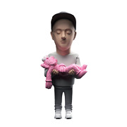Brian Donnelly Aka Kaws Action Figure By Danii Yad White/pink/grey Variant