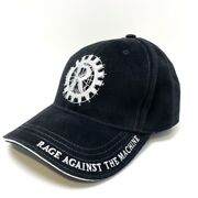 Rage Against The Machine Black And White Rare Official Baseball Cap