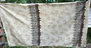 Paisley Craft Upholstery Fabric 54w X 93 L Faux Tea Dye Taupe Brwn Blu Floral