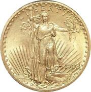 Aa829 Rare United States 20 Dollars Liberty 1908 Or Gold Unc - Make Offer