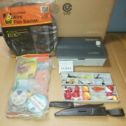 Vintage Flambeau Tackle Box Fly Fishing Lot Lures Spinners Wire Fish Basket