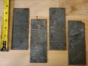 Antique Aetna-ize Newspaper Printing Plate Grippe Disability Insurance